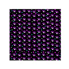 Purple dots pattern Small Satin Scarf (Square)