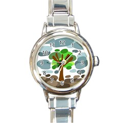 Tree Round Italian Charm Watch