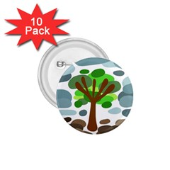 Tree 1.75  Buttons (10 pack)