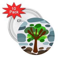 Tree 2.25  Buttons (10 pack)