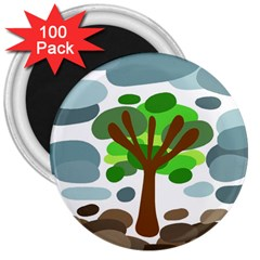 Tree 3  Magnets (100 pack)