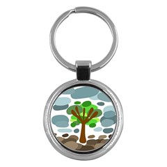 Tree Key Chains (Round)