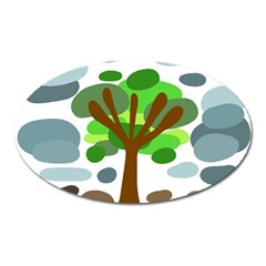 Tree Oval Magnet