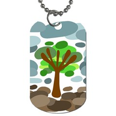 Tree Dog Tag (Two Sides)