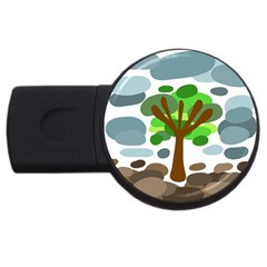 Tree USB Flash Drive Round (2 GB)