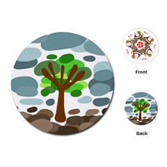 Tree Playing Cards (Round)