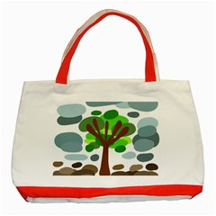 Tree Classic Tote Bag (red)