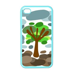 Tree Apple Iphone 4 Case (color)
