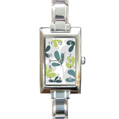 Elegant floral design Rectangle Italian Charm Watch