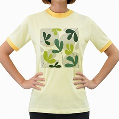 Elegant floral design Women s Fitted Ringer T-Shirts