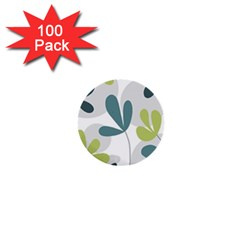 Elegant floral design 1  Mini Buttons (100 pack)