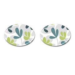 Elegant floral design Cufflinks (Oval)