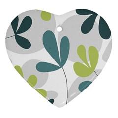 Elegant floral design Heart Ornament (2 Sides)