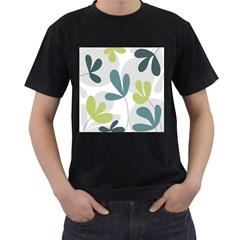 Elegant floral design Men s T-Shirt (Black)