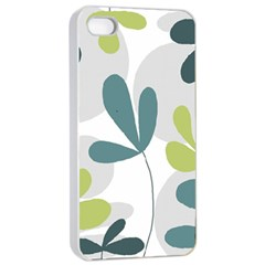 Elegant floral design Apple iPhone 4/4s Seamless Case (White)