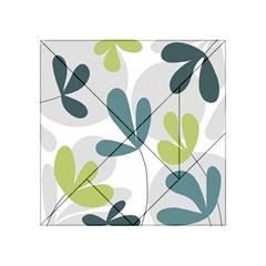 Elegant floral design Acrylic Tangram Puzzle (4  x 4 )