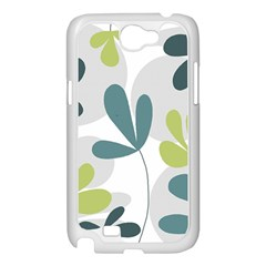 Elegant floral design Samsung Galaxy Note 2 Case (White)