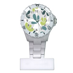 Elegant floral design Plastic Nurses Watch