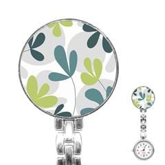 Elegant floral design Stainless Steel Nurses Watch