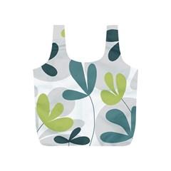Elegant floral design Full Print Recycle Bags (S)
