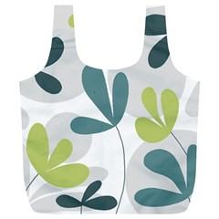 Elegant floral design Full Print Recycle Bags (L)