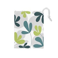 Elegant floral design Drawstring Pouches (Medium)