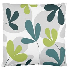 Elegant floral design Large Flano Cushion Case (One Side)