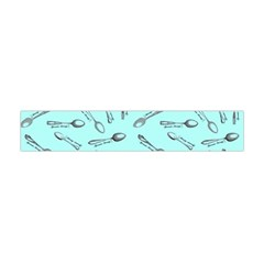 Spoonie Strong Print in Light Turquiose Flano Scarf (Mini)