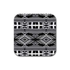 Si Ber Linx Rubber Square Coaster (4 Pack)
