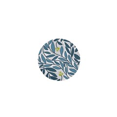 Blue floral design 1  Mini Magnets