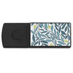 Blue floral design USB Flash Drive Rectangular (1 GB)