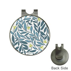 Blue floral design Hat Clips with Golf Markers