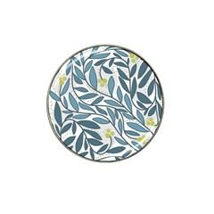 Blue floral design Hat Clip Ball Marker (4 pack)
