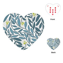 Blue floral design Playing Cards (Heart)