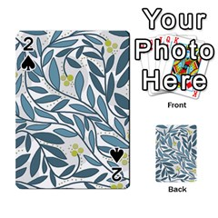 Blue floral design Playing Cards 54 Designs