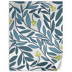 Blue floral design Canvas 12  x 16