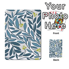 Blue floral design Multi-purpose Cards (Rectangle)