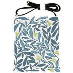 Blue floral design Shoulder Sling Bags