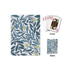 Blue floral design Playing Cards (Mini)