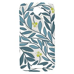 Blue floral design HTC One S Hardshell Case