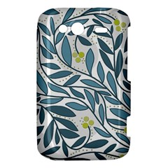 Blue floral design HTC Wildfire S A510e Hardshell Case