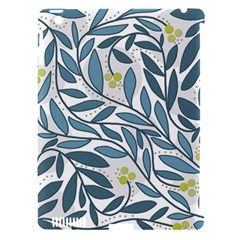 Blue floral design Apple iPad 3/4 Hardshell Case (Compatible with Smart Cover)