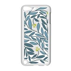 Blue floral design Apple iPod Touch 5 Case (White)