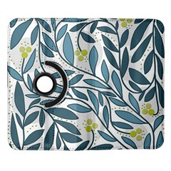 Blue floral design Samsung Galaxy Note II Flip 360 Case