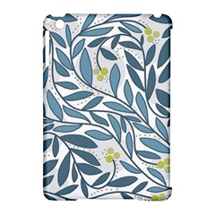 Blue floral design Apple iPad Mini Hardshell Case (Compatible with Smart Cover)