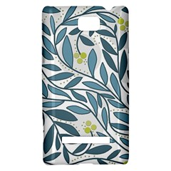 Blue floral design HTC 8S Hardshell Case