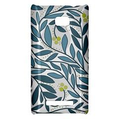 Blue floral design HTC 8X