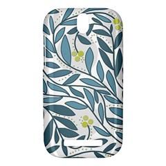 Blue floral design HTC One SV Hardshell Case