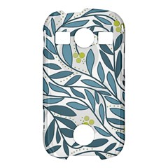 Blue floral design Samsung Galaxy S7710 Xcover 2 Hardshell Case