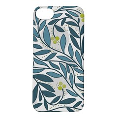 Blue floral design Apple iPhone 5S/ SE Hardshell Case